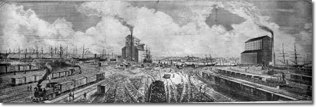 The first year the B&O began carrying freight it averaged 26 tons of freight a day.  By 1858 the B&O moved an astonishing 224 thousand tons per day!